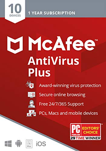 McAfee AntiVirus Plus, 10 Device...