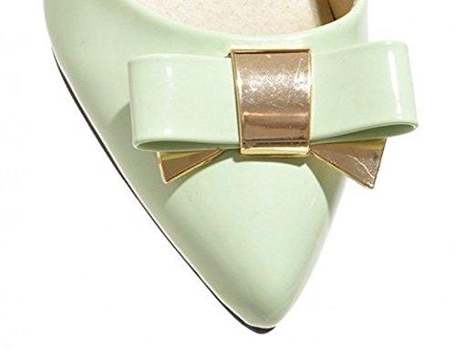 Aisun Donna Sexy Dolce Bowknot Stiletto Scarpe Con Tacco Alto Scarpe Verde