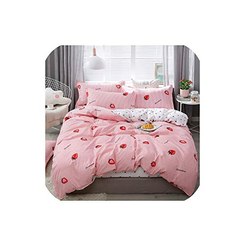 (LOVE-JING Home Textile Animal Happy Bird Winter 4Pcs Child Adult Bedding Set Luxury Comfortable Bedclothes Duvet Cover Bed Linen,04,Twin Cover 150By200,(Flat Bed Sheet))