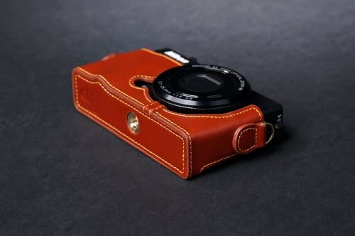 330 Camera half case Brown color Genuine real COW leather case bag cover for Nikon P330 P