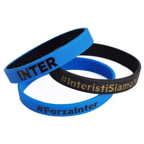 Inter Set 3 ARMBÄNDER Abzeichen F.C. Internazionale Offizielle Produkt Idee Geschenk Soccer Serie A GIEMME ARTICOLI PROMOZIONALI