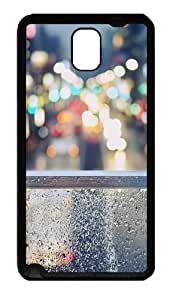 Galaxy Note 3 Case, Note 3 Cases - Rainy Window Soft Rubber Bumper Case for Samsung Galaxy Note 3 N9000 TPU Black