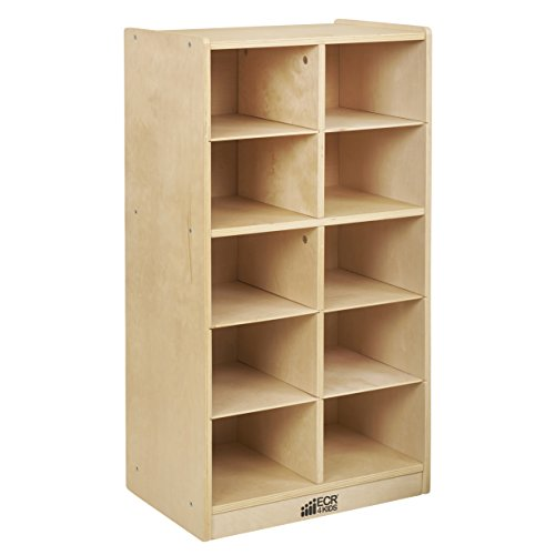 ECR4Kids Birch 10 Cubbie Tray Cabinet