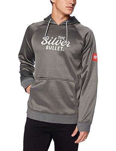(686 Men's Pullover Fleece Hoody | Water Resistant, Modern Fit, Drawstring Hood | Technical Apparel Outerwear, Gray, Coors Light |)