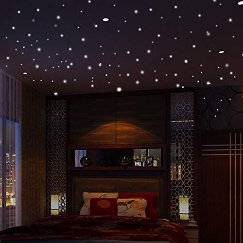 ufengke Luminoso Pegatinas de Pared Estrellas Brillo en La Oscuridad, Extraíble Polka 104 Puntos Fluorescente Vinilos de...