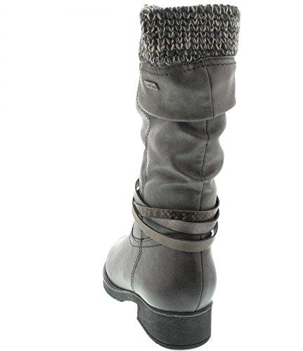 Botas Jana para mujer 8-26411-29-206 gris grafito gris
