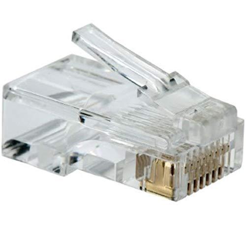 UbiGear 1000 Pcs RJ45 CAT5 CAT5e 8P8C Modular Network Cable LAN Connector End Plug LOT