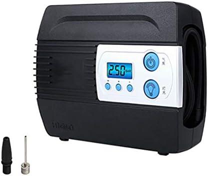 RJQ Digital Compressor Tyre Inflator Portable Air CompressorBacklit Digital Pressure Gauge Valve Adaptors for Car Bicycles Tires Basketballs 6.22
