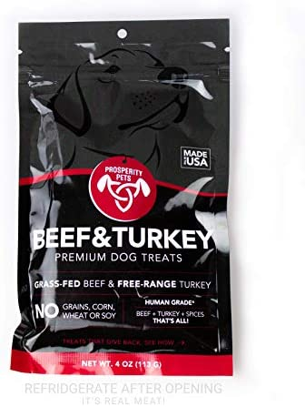 Prosperity Pets 100 Real Meat Dog Treats. Healthy Dog Treats Made in USA Only, All Natural, Grain Free, Limited Ingredients.
