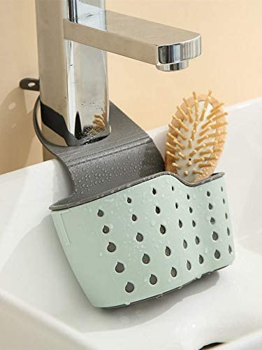 41lIcgYwkyL. AC Kitchen Sink Shelf Soap Sponge Drain Rack Holder Double Decker Hanging Basket Storage Suction Cup Kitchen Organizer Sink Accessories Wash Dropshipping, 1Pcs (Green)    Product Description