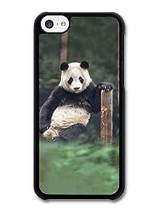 MMZ DIY PHONE CASEPanda Bear Sitting & Thinking case for ipod touch 4