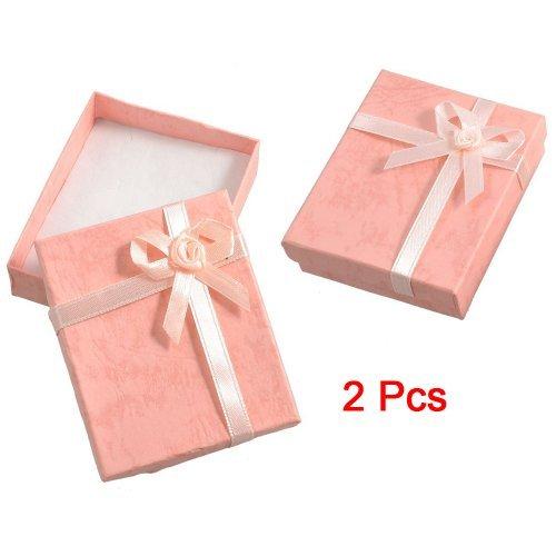 ZHJZ - Caja de Regalo de cartón con diseño de Pajarita, 2 Unidades (Rosa)