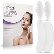 Silicone Care Neck and Eye pads- Treatment and prevention of neck and eye wrinkles. 2 sets of premium neck pads and 1 set of eye pads. increased pad thickness, improved adhesive reusable 15-30 uses.