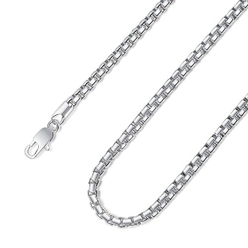 Mens Womens 4.5 MM Jazz free Style Rolo Cable Chain necklace jewelry with clasps Gold and Silver Tones(18inch-platinum-plated)