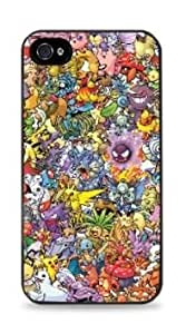 Pokemon Collage Apple iphone 5c Case - Black 3