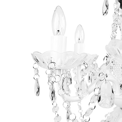 Tadpoles Vintage-Style Chandelier, Crystal Chandelier Lighting, 5-Bulb, White Diamond