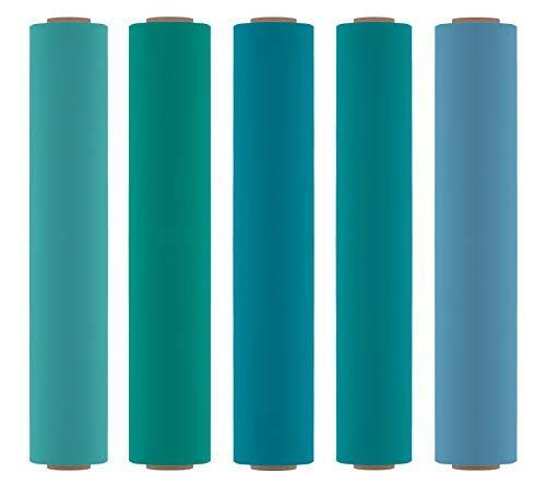 Firefly Craft Heat Transfer Vinyl Bundle | Ocean HTV Vinyl Bundle | Iron On Vinyl for Cricut and Silhouette | Pack of 5 Rolls - Including Our Best Selling Blue - Green HTV Colors - 12