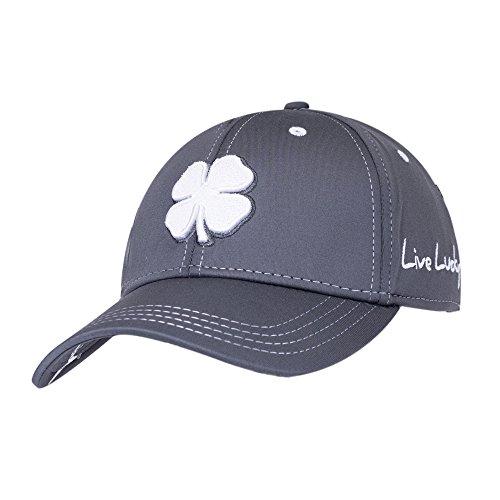 Black Clover Mens Premium Clover #26 White/Grey/Grey Small/Medium Fitted Hat - 617353831542