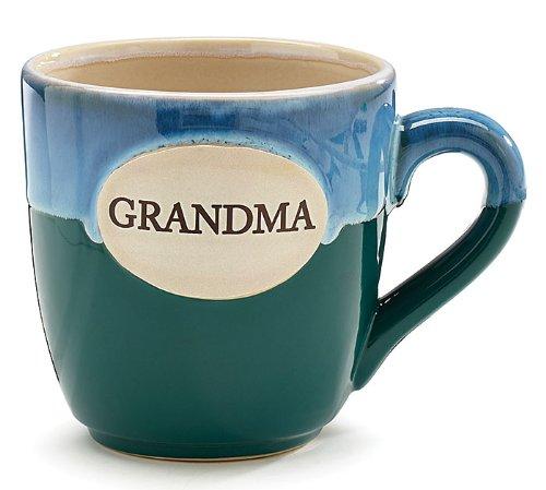 Mug Grandma - 1 X Grandma Teal Porcelain Coffee Tea Mug Cup 16oz Gift Box
