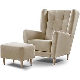 Best Antique Wood Hub Comfortable Armchair Karl