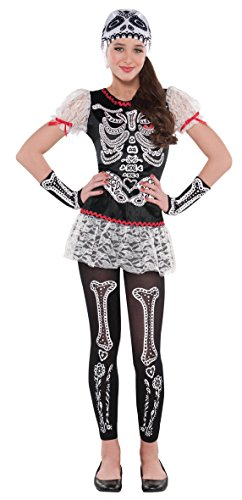 Children's Wonder Woman Costume Uk (CH 12-14 SASSY SKELETON GIRL LG)
