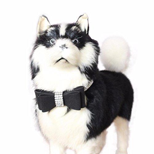 41lIekS34 L - Sunward Dog Collars, Diamond Bow Tie Crystal Rhinestone Pet Collar Designer Girl Boy Dog Collar