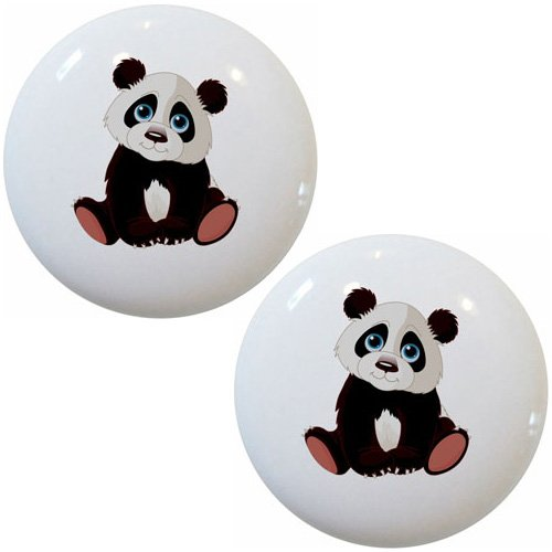 Bear Ceramic Cabinet Drawer Pull Knobs (Bear Drawer Knob)
