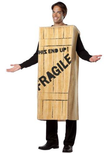 Fragile Costume Christmas Story (Rasta Imposta Mens Fragile Wooden Crate Christmas Story Fancy Dress Costume, Standard (42-48))