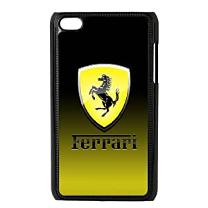 Classic Case Ferrari Logo pattern design For Ipod Touch 4 Phone Case