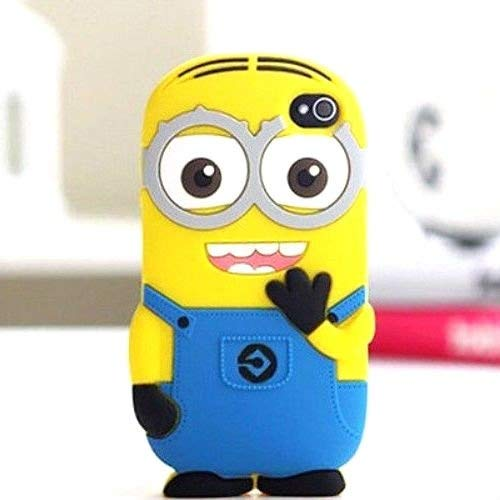 With Two Eyes {Minion Character} Soft and Smooth Silicone Cute 3D Fitted Bumper Gel Case for iPod 4 (4G) 4th Generation iTouch by Apple