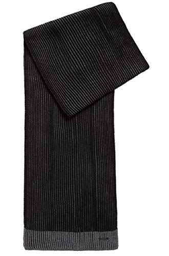 (Hugo Boss Men's Ebalios in two-tone Knitted scarf)