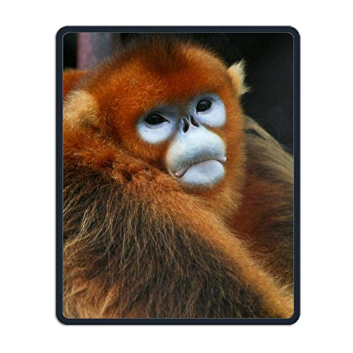 se Pad Unique Printed Mousepad Stitched Edge Non-Slip Rubber Animal Golden Snub Nosed Monkeys ()
