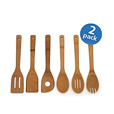 Lipper International 826 Set of 12 Bamboo Kitchen Tools, in Mesh Bag