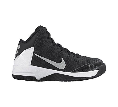 Nueva Nike chico es sin duda una zapatilla de baloncesto Black/Flt Silver/White/Mtlc Silver
