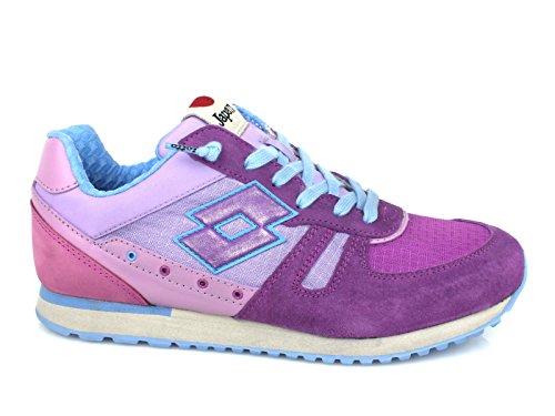 Lotto Leggenda, Donna, Tokyo Shibuya Ripstop, Pelle / Nylon, Sneakers, Viola
