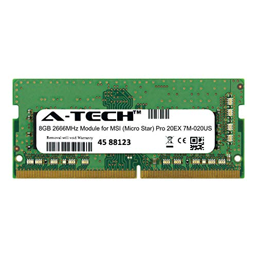 A-Tech 8GB Module for MSI (Micro Star) Pro 20EX 7M-020US Laptop & Notebook Compatible DDR4 2666Mhz Memory Ram - Notebook 020us