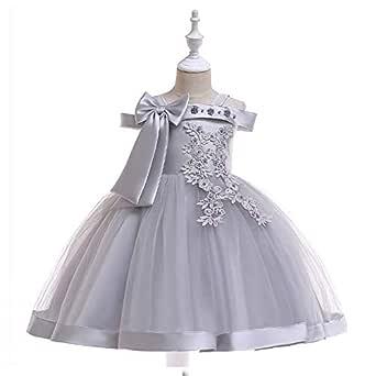 Children's Dress Performance Off Shoulder Evening Dress Girls Catwalk Show Princess Bow Dress
