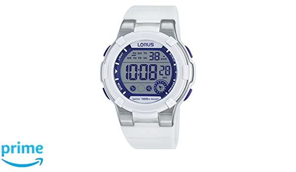 Lorus Watches de Mujer Reloj de Pulsera Deportivo Digital Cuarzo Caucho r2359kx9: Amazon.es: Relojes