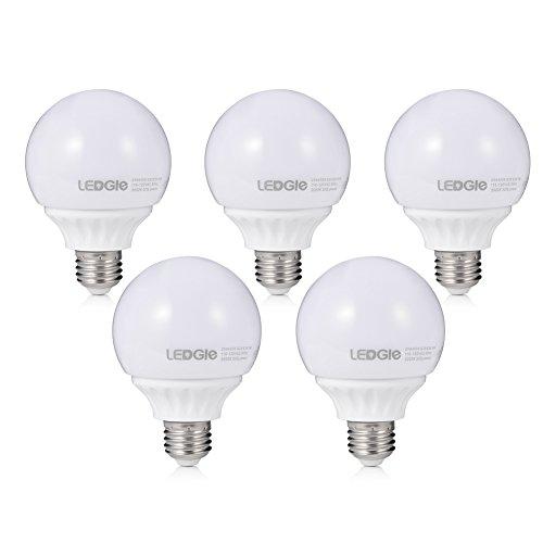 LEDGLE G25 LED Light Bulbs E26 Socket, 5W LED G...