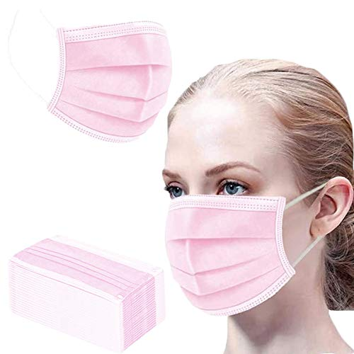 50PCS crimson disposable face protect for defense 3-ply breathable filth evidence