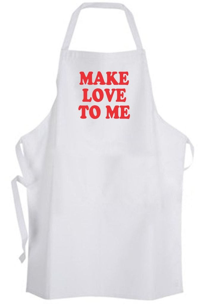 Make Love To Me Adult Size Apron Cute Funny Kitchen Wife Bride Wedding Valentine