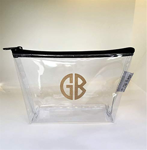 Pouch Vinyl 5.5 (Small Clear Travel Cosmetic Bag Custom Made USA 9