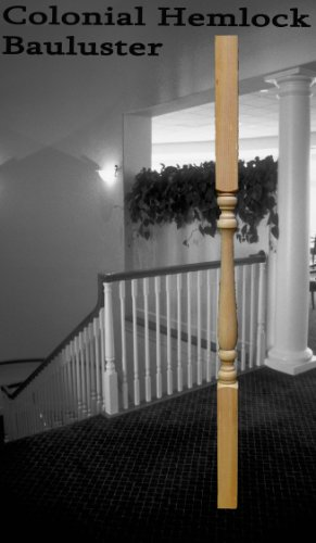 "Turncraft Hemlock Wood Baluster Spindle (Colonial) 2"" X 1..."
