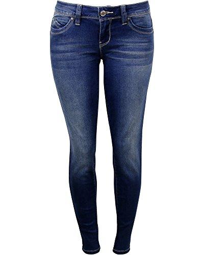 Ymi Women's Betta Butt Jeans,Dark,3 by YMI