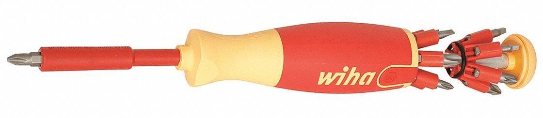 Wiha 38050 Insulated Pop-Up Insert Bit Holder Screwdriver - SL/PH/SQ/PZ by Wiha Tools