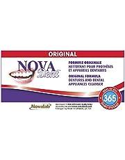 Novadent Original + FREE soaking bath | Dentures and dental appliances cleanser | 1 year (52 sachets)