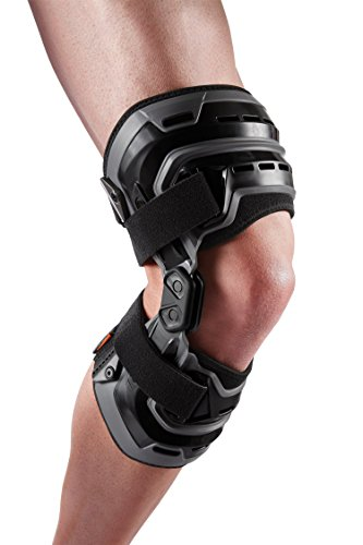 Shock Doctor Knee Brace wCompression Sleeve Maximum Knee Support for Knee Instabilities Pain Relief Injury Recovery for Men Women Sold as Single Unit 1