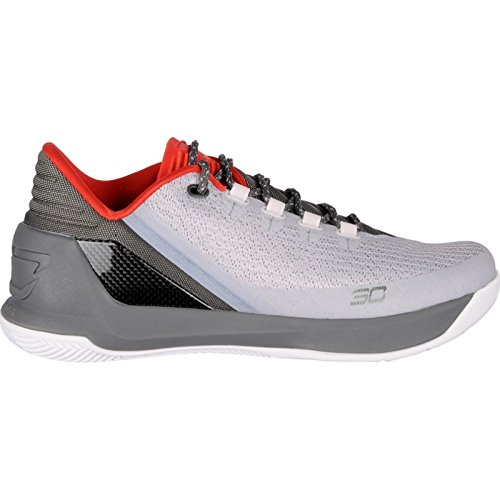 Under Armour UA Curry 3 Low Mens Basketball Trainers 1286376 Sneakers Shoes (US 9.5, grey grey red 289) by Under Armour (Image #1)