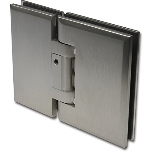 Chalet-PT Swing Door Fitting Glass with Lock. 90° stainless steel effect