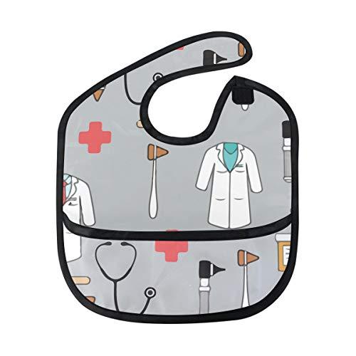 Noctor Medical EMT Baby Bibs Waterproof,Washable,Baby Teething Bib 6-24 Months